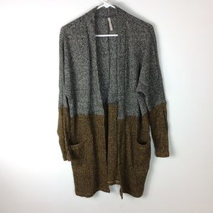 My Story Color Block Long Duster Cardigan Size L